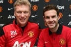 Juan Mata with David Moyes