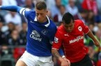 Everton's Ross Barkley and Cardiff's Gary Medel