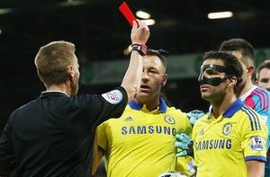 Fabregas red card