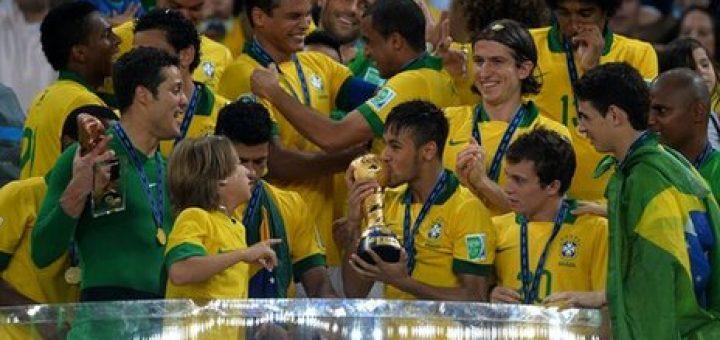 Brazil stun Spain in Confed final