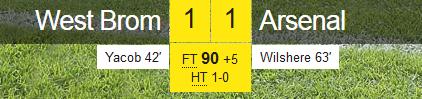 WBA 1-1 Arsenal