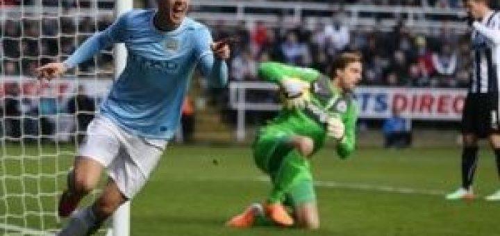 Dzeko scores against Newcastle