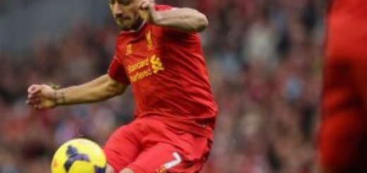 Luis Suarez of Liverpool in action