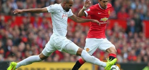 Leroy Fer challenges Angel Di Maria
