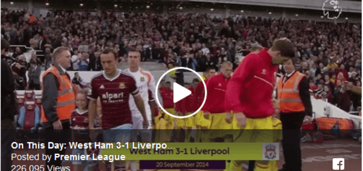 West Ham 3-1 Liverpool