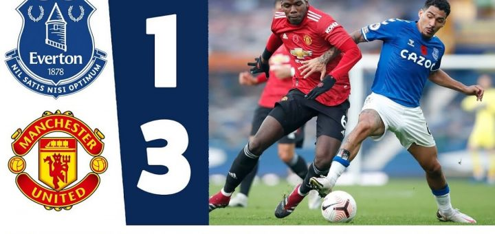 Everton 1-3 Man Utd